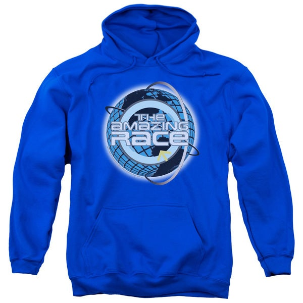 Amazing Race/Around The Globe Adult Pull-Over Hoodie in Royal Blue