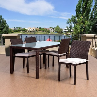Atlantic Liberty Brown Wicker 5-piece Rectangular Patio Dining Set
