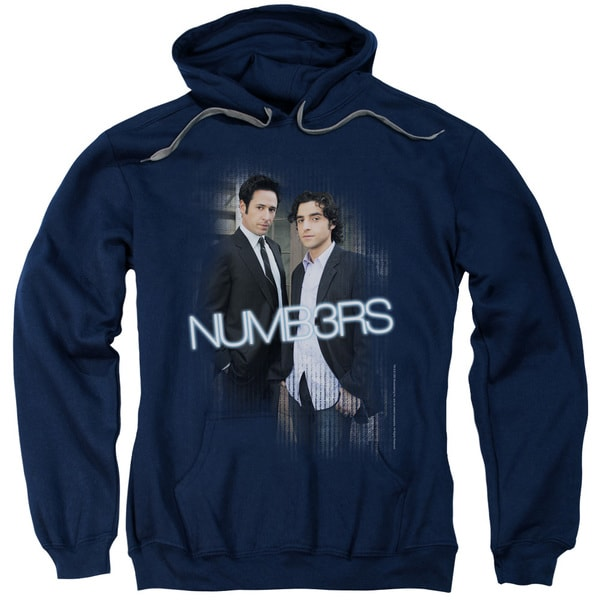 Numb3Rs/Don &Amp; Charlie Adult Pull-Over Hoodie in Navy