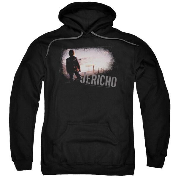Jericho/Mushroom Cloud Adult Pull-Over Hoodie in Black