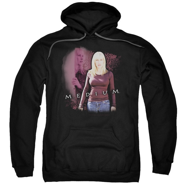 Medium/Medium Adult Pull-Over Hoodie in Black