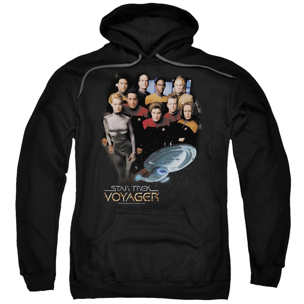 Star Trek/Voyager Crew Adult Pull-Over Hoodie in Black