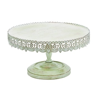 Soft White Polish Metal Cake Stand