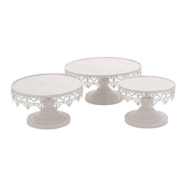 White Metal Cupcake Stand