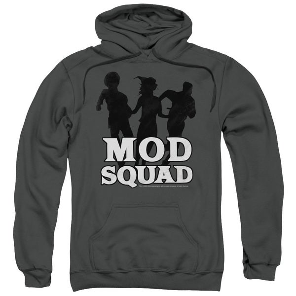 Mod Squad/Mod Squad Run Simple Adult Pull-Over Hoodie in Charcoal