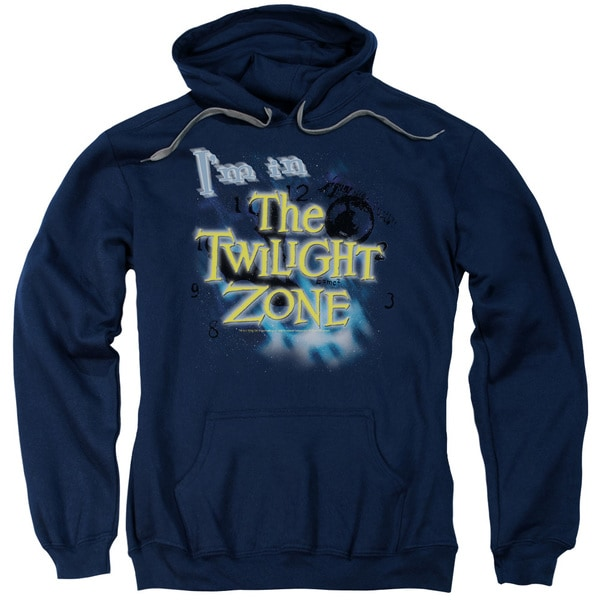 Twilight Zone/I'M in The Twilight Zone Adult Pull-Over Hoodie in Navy
