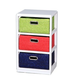 Multicolored Wooden 3-drawer Cabinet