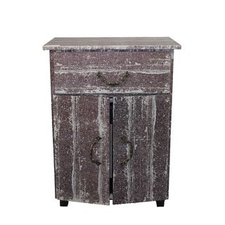 Entrada Distressed Brown Wood Cabinet