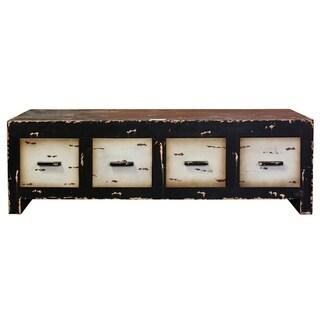 Entrada Brown and Beige Wooden Storage Cabinet
