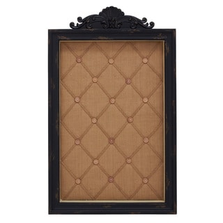 Black and Brown Wood Message Display Cabinet
