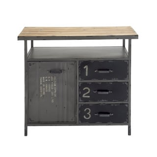 Unique and Stylish Metal Wood Multipurpose Utility Cabinet
