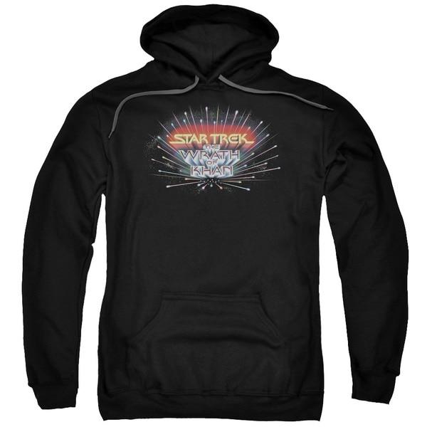 Star Trek/Khan Logo Adult Pull-Over Hoodie in Black