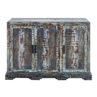 Antique Finish Wood 36-inch Sleek Profile Cabinet