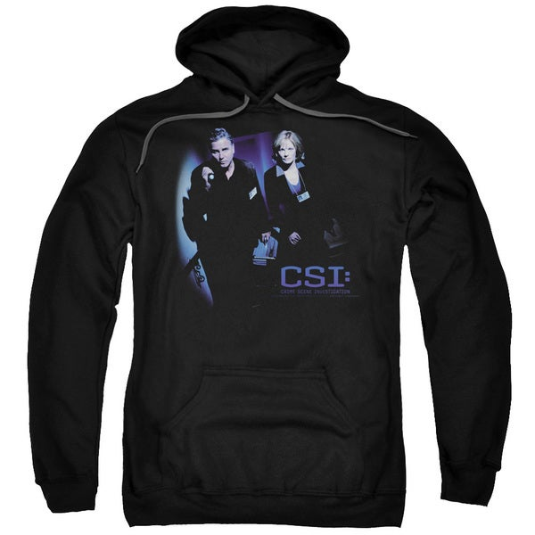 CSI/At The Scene Adult Pull-Over Hoodie in Black