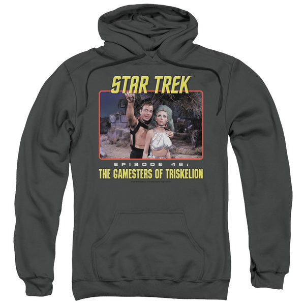 Star Trek/Episode 46 Adult Pull-Over Hoodie in Charcoal