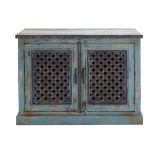 27810 Distressed Finish Wood Frame Cabinet