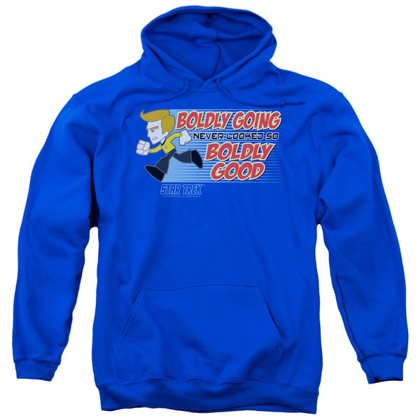Quogs/Boldly Good Adult Pull-Over Hoodie in Royal Blue 18679519