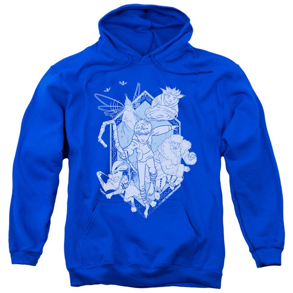 Rise Of The Guardians/Coming For You Adult Pull-Over Hoodie in Royal Blue