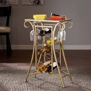 Upton Home Nancy Gold Wine Rack Table