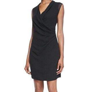 Elie Tahari Women's Kinsley Black Rayon Sleeveless Shift Dress