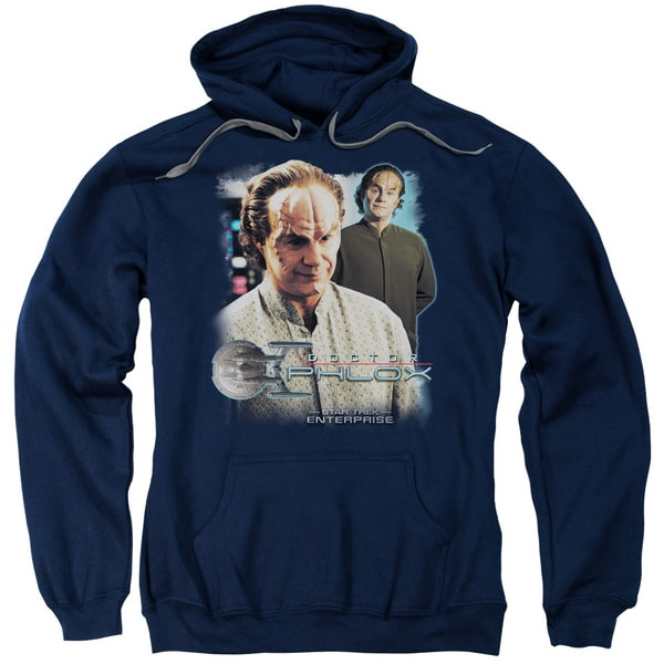 Star Trek/Doctor Phlox Adult Pull-Over Hoodie in Navy