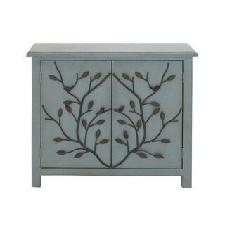Blue Wood Tree Branch Motif Cabinet