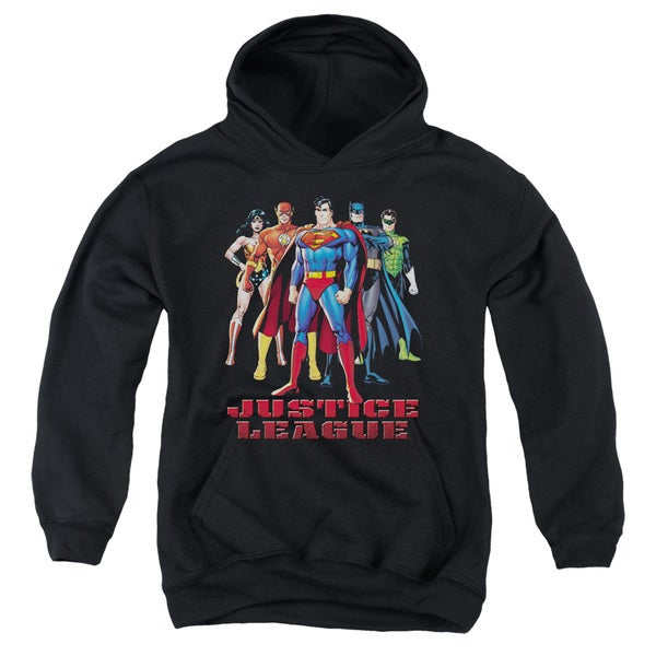 JLA/In League Youth Pull-Over Hoodie in Black