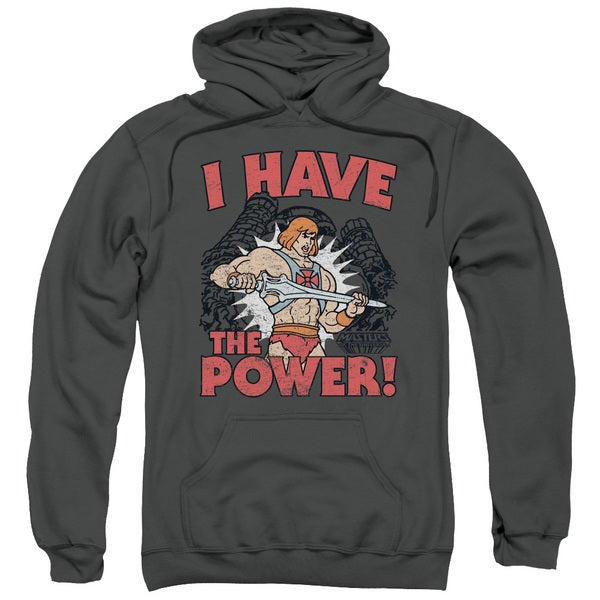 Masters Of The Universe/I Have The Power Adult Pull-Over Hoodie in Charcoal