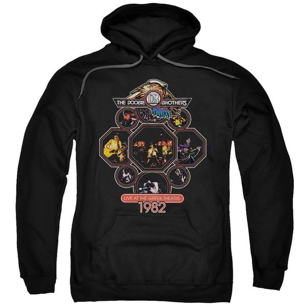 Doobie Brothers/Live Greek Adult Pull-Over Hoodie in Black