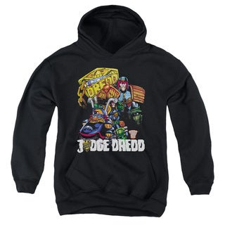 Judge Dredd/Bike and Badge Youth Pull-Over Hoodie in Black