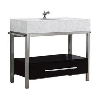 Denali Collection Black Or Grey Espresso Maple Marble And Steel Vanity Floor Cabinet Free