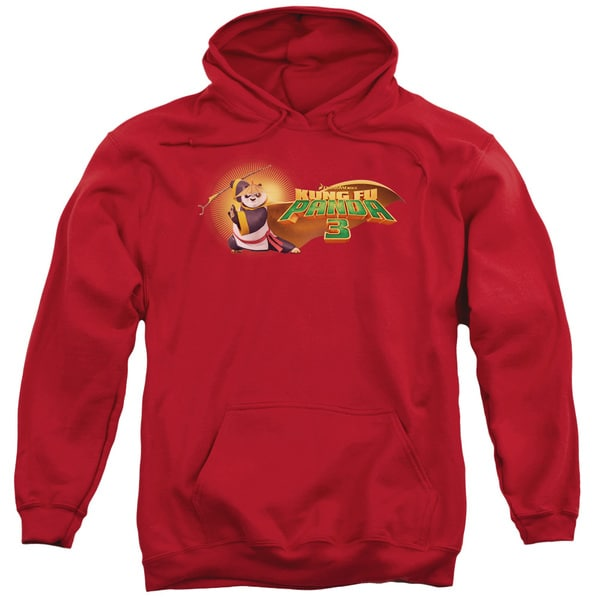 Kung Fu Panda/Po Logo Adult Pull-Over Hoodie in Red