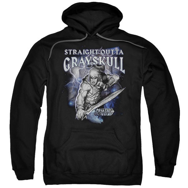 Masters Of The Universe/Straight Outta Grayskull Adult Pull-Over Hoodie in Black