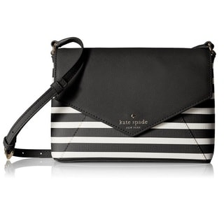 Kate Spade New York Fairmount Square Large Monday Black/Sandy Beach Crossbody Handbag