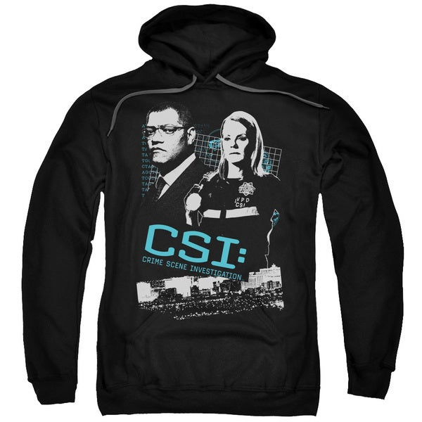 CSI/Investigate This Adult Pull-Over Hoodie in Black