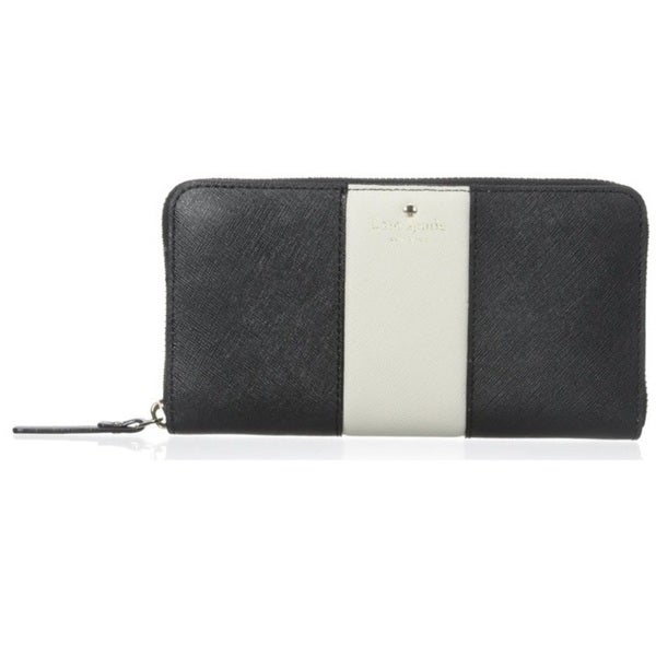 Kate Spade New York Cedar Street Racing Stripe Lacey Black Wallet