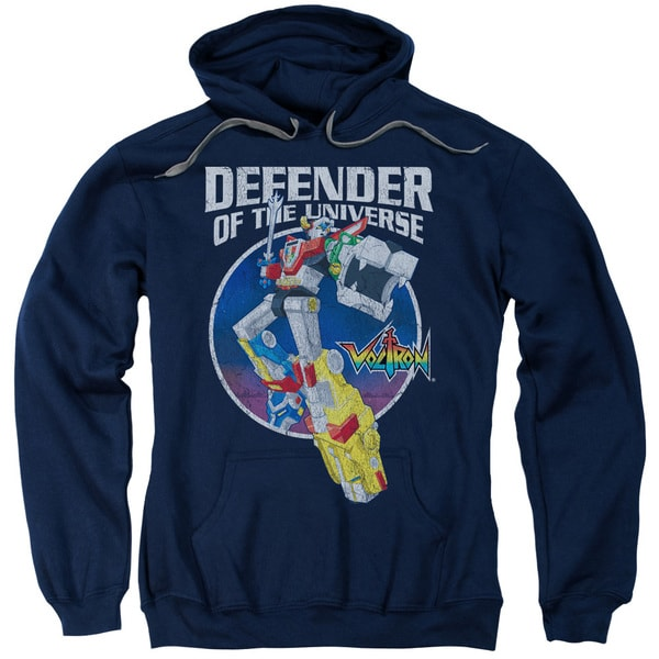 Voltron/Defender Adult Pull-Over Hoodie in Navy