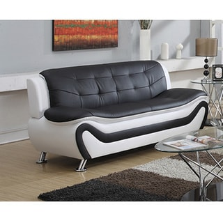 Ellena Faux Leather Modern Living Room Sofa
