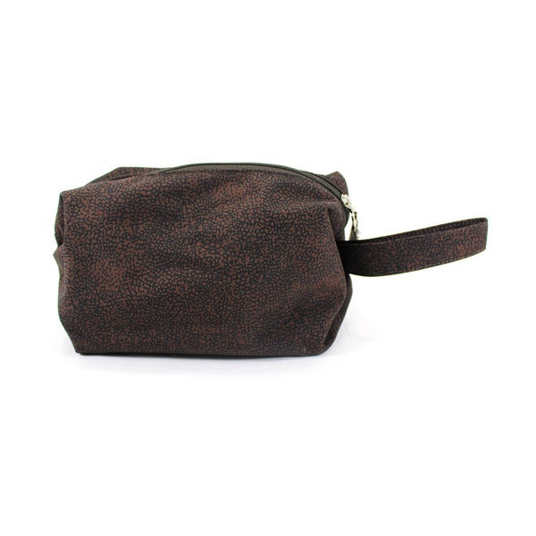 Borbonese Women's Brown Manmade Cosmetic Bag