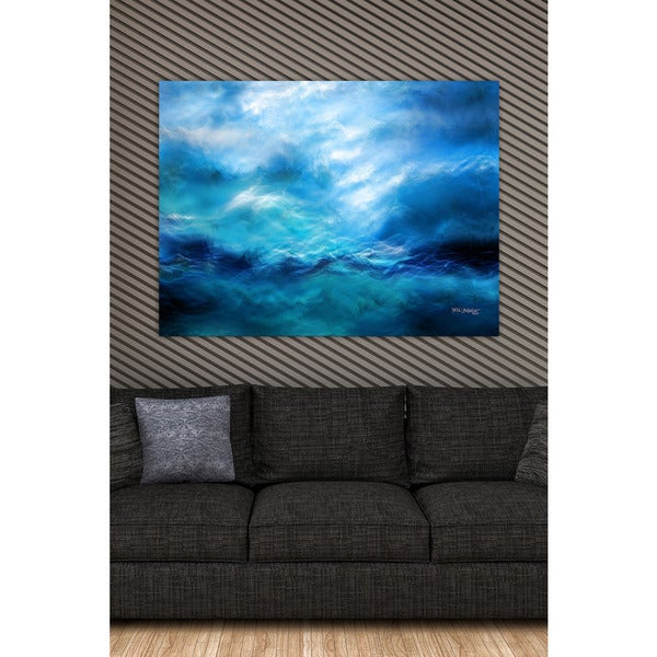 Mark Lawrence 'The Raging Of The Water. Luke 8:24' Giclee Stretched Canvas Wall Art