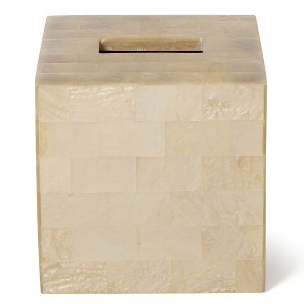 Roselli Trading Company Bellagio Cream/Beige Mother of Pearl Tissue Cover