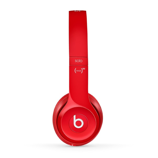 Beats by Dr. Dre Red Reconditioned Solo 2 Wired Headphones