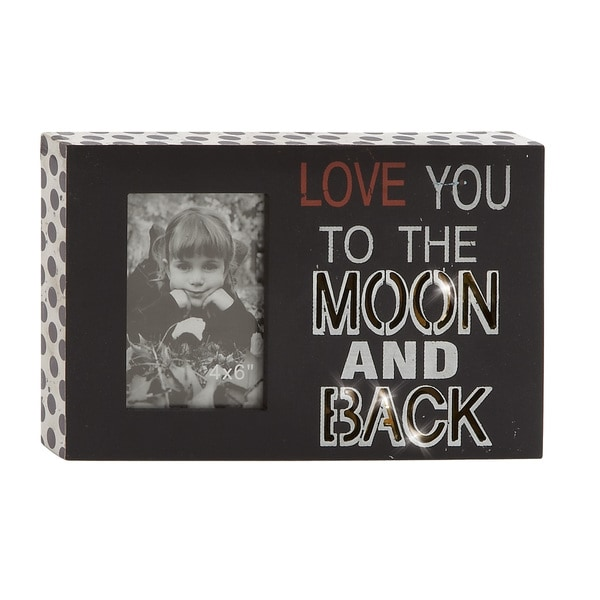 Black Wood 12x8-inch LED Wall Photo Sign