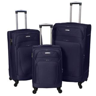 Amka Millennium Ballistic Nylon/ EVA 3-piece Expandable Spinner Wheeled Luggage Set