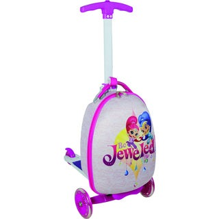 Nickelodeon Kid's Shimmer and Shine Bejeweled Upright Scooter Suitcase