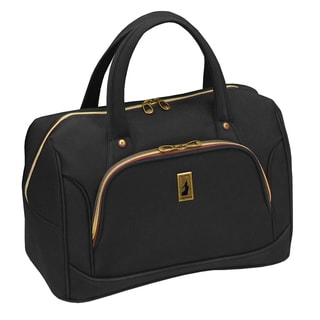 London Fog Coventry Collection Black Polyester 17-inch Carry-on Cabin Tote
