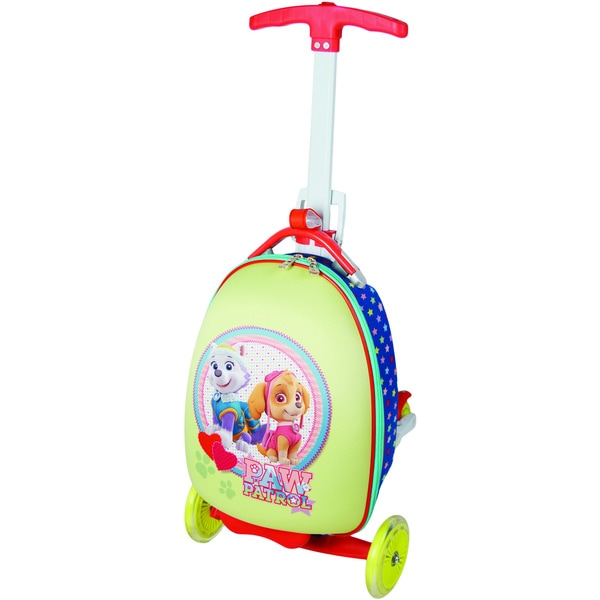 Nickelodeon Paw Patrol Girl Pup Duo Multicolored EVA Telescoping Handle Upright Wheelie Suitcase