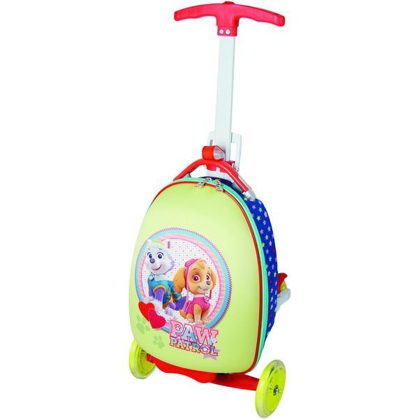Nickelodeon Paw Patrol Girl Pup Duo Multicolored EVA Telescoping Handle Upright Wheelie Suitcase