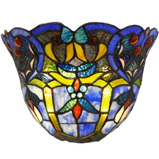 River Of Goods Tiffany-style Multicolored Stained Glass 8-inch LED Wall Sconce