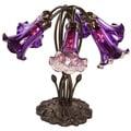 River Of Goods Dark Purple Mercury Glass 16.75-inch High 6-light Lily Downlight Accent Lamp